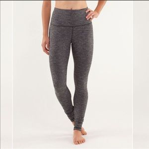 Lululemon Grey Stitched Yoga Pants
